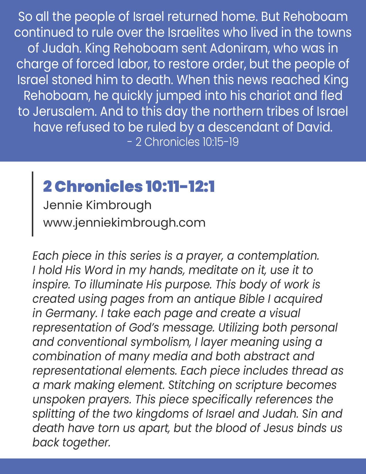 2 Chronicles 10:15-19